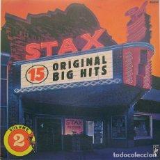 Discos de vinilo: VARIOS - STAX 15 ORIGINAL BIG HITS, VOLUMEN 2 (1989). Lote 130661808