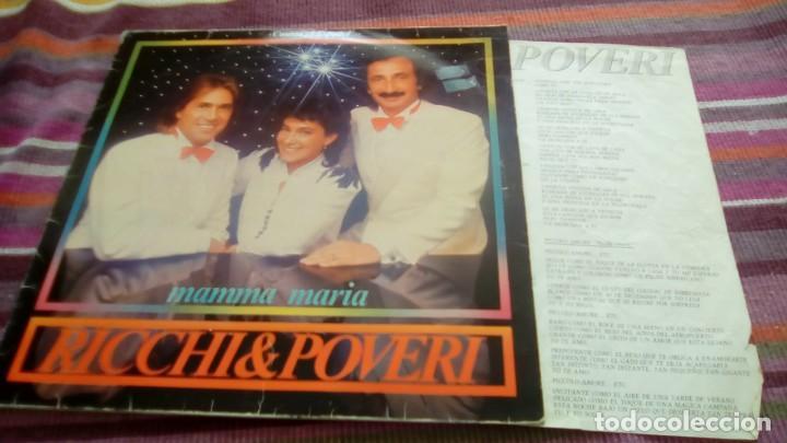 RICCHI & POVERI - MAMMA MARIA / CANTAN EN ESPAÑOL - LP - BABY 1983 SPAIN CON ENCARTE (Música - Discos - LP Vinilo - Canción Francesa e Italiana)