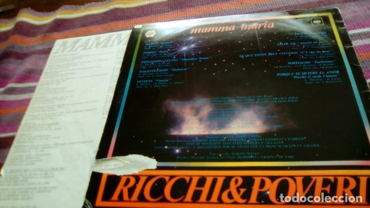 Discos de vinilo: RICCHI & POVERI - MAMMA MARIA / CANTAN EN ESPAÑOL - LP - BABY 1983 SPAIN CON ENCARTE - Foto 2 - 130715249