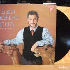 Discos de vinilo: JUAN PARDO - UNO ESTÁ SOLO, LP EDITADO POR HISPAVOX CON ENCARTE PEPETO. Lote 130723924