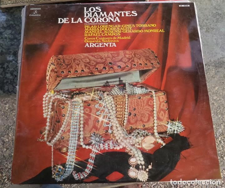 LOS DIAMANTES DE LA CORONA ZARZUELA COLUMBIA 1974 PILAR LORENGAR GINES TORRANO (Música - Discos de Vinilo - EPs - Clásica, Ópera, Zarzuela y Marchas)