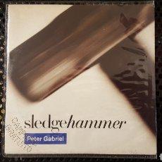 Discos de vinilo: SINGLE - PETER GABRIEL SLEDGEHAMMER (ED. ITALIANA) - VIRGIN VIN 45186. Lote 130776027