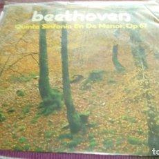 Discos de vinilo: BEETHOVEN,QUINTA SINFONIA EN DO MENOR, OP 67, LP GRAMUSIC DE 1975. Lote 130776360
