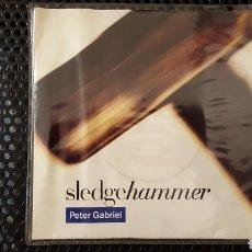 Discos de vinilo: SINGLE - PETER GABRIEL – SLEDGEHAMMER (ED. PORTUGUESA) - VIRGIN – 538905. Lote 130777976