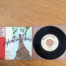 Discos de vinilo: APRIL IN PARIS. TRIO LES PETITS CHAUX Y MARCK ANDREWS Y SU ORQUESTA. Lote 130779819