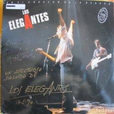 Discos de vinilo: LP - LOS ELEGANTES - EN EL CORAZON DE LA RESACA (DOBLE DISCO, SPAIN, DISCOS DRO 1990). Lote 130787932