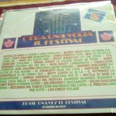 Disques de vinyle: C´ERA UNA VOLTA IL FESTIVAL. RECOPILACIÓN FESTIVAL SAN REMO DOBLE LP 1990 LOS 5 NICOLA DI BARI MAL D. Lote 130790320