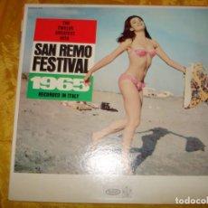 Disques de vinyle: THE TWELVE GREATEST HITS SAN REMO FESTIVAL 1965 . RCA, EDITADO EN U.S.A. Lote 130799416