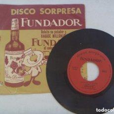 Discos de vinilo: DISCO ( SINGLE ) SORPRESA DE FUNDADOR : MUSICA NORTEAMERICANA COCKTAIL DE RITMOS . MUSICA LIGERA.. Lote 130820380