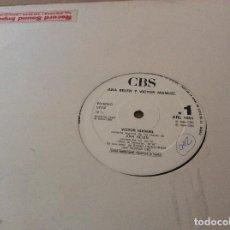 Discos de vinilo: ANA BELEN Y VICTOR MANUEL. COMENTAN TEMAS DE PARA LA TERNURA. CBS 1986. DISCO PROMOCIONAL.. Lote 183746183