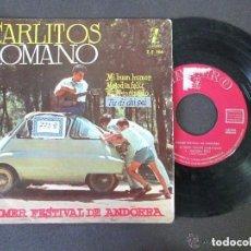 Discos de vinilo: CARLITOS ROMANO - PRIMER FESTIVAL ANDORRA - MI BUEN HUMOR + 3 - EP ZAFIRO 1960 (SOLO DISCO). Lote 130836484