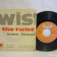 Discos de vinilo: JACQUES DENJEAN - THE TWIST - 1962 - EP - CHANSON - SPAIN - RARO - VG/VG. Lote 130836752