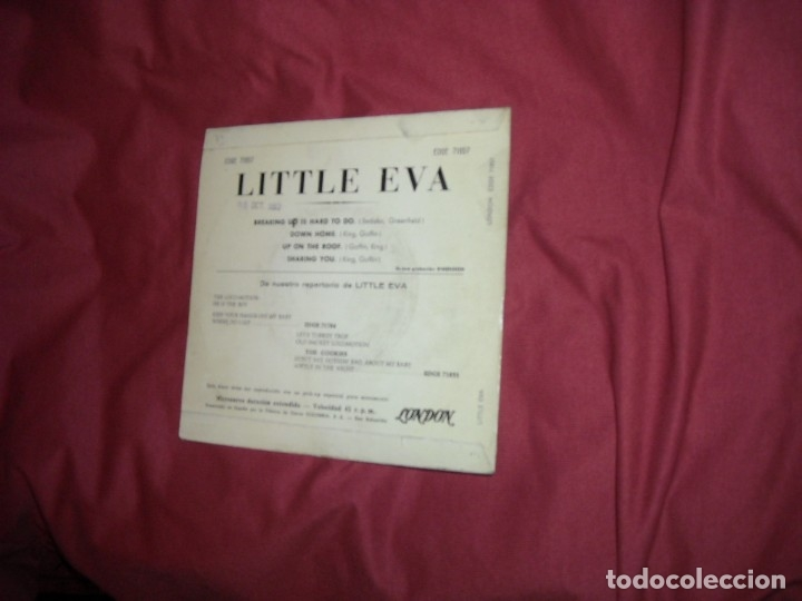 Discos de vinilo: LITTLE EVA EP BREAKING UP IS HARD TO DO 1963 EDICION SPA - Foto 2 - 130859220