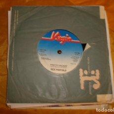 Discos de vinilo: SEX PISTOLS. NO FUN / PRETTY VACANT. VIRGIN, 1977. EDICION INGLESA. IMPECABLE. Lote 130865536