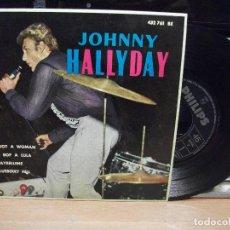 Discos de vinilo: JOHNNY HALLYDAY I GOT A WOMAN,MAYBELLENE + 2 EP SPAIN 1962 PEPETO TOP. Lote 130867128