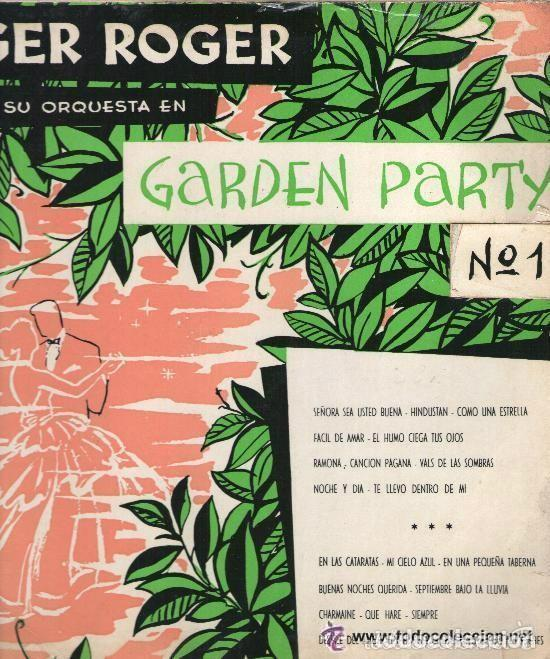 ROGER ROGER GARDEN PARTY Nº 1, DISCO 10 PULGADAS HISPAVOX HS 8303 (TROMPETA GEORGES JOUVIN) (Música - Discos - LP Vinilo - Orquestas)