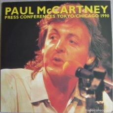 Discos de vinilo: PAUL MCCARTNEY (THE BEATLES): PRESS CONFERENCES TOKYO / CHICAGO 1990. 2 CONFERENCIAS DE PRENSA. Lote 130887752