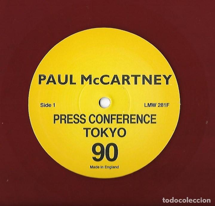 Discos de vinilo: PAUL McCARTNEY (THE BEATLES): PRESS CONFERENCES TOKYO / CHICAGO 1990. 2 CONFERENCIAS DE PRENSA - Foto 3 - 130887752