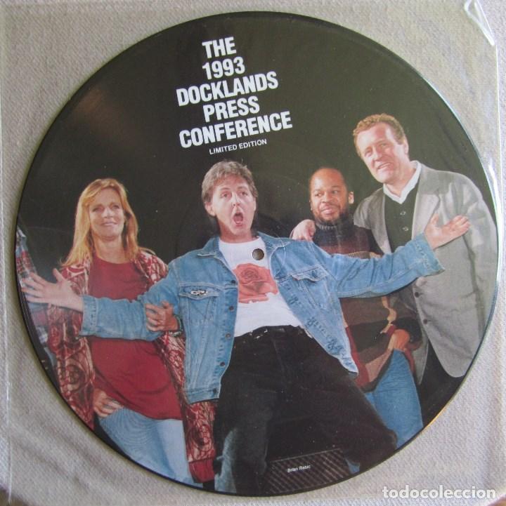 Discos de vinilo: PAUL McCARTNEY (THE BEATLES): THE 1993 DOCKLANDS PRESS CONFERENCE. PRECIOSO FOTODISCO (PICTURE DISC) - Foto 2 - 130888856