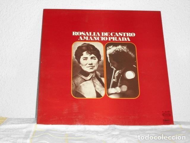 AMANCIO PRADA LP ROSALIA DE CASTRO PORTADA ABIERTA (Música - Discos - LP Vinilo - Cantautores Españoles)