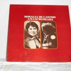 Disques de vinyle: AMANCIO PRADA LP ROSALIA DE CASTRO PORTADA ABIERTA. Lote 130910944