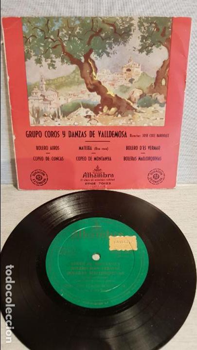 GRUPO COROS Y DANZAS DE VALLDEMOSA / EP - ALHAMBRA / AÑOS 50 / MBC. ***/*** (Música - Discos de Vinilo - EPs - Country y Folk)