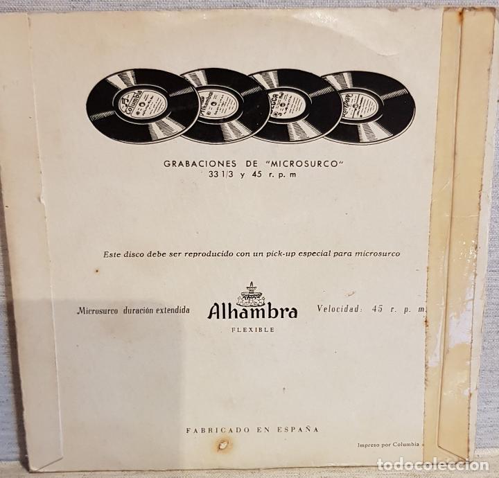 Discos de vinilo: GRUPO COROS Y DANZAS DE VALLDEMOSA / EP - ALHAMBRA / AÑOS 50 / MBC. ***/*** - Foto 2 - 130914460
