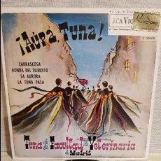 Discos de vinilo: TUNA DE LA FACULTAD DE VETERINARIA / AUPA TUNA / EP - RCA-VICTOR-1962 / MBC. ***/***. Lote 130914676
