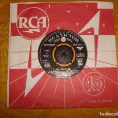 Discos de vinilo: ELVIS PRESLEY WITH THE JORDANAIRES. ALL THAT I MAN / SPINOUT. RCA, 1966. EDICION INGLESA. Lote 130917328
