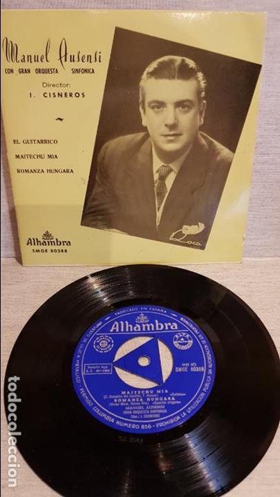 MANUEL AUSENSI / EL GUITARRICO / EP - ALHAMBRA - 1960 / MBC. ***/*** (Música - Discos de Vinilo - EPs - Clásica, Ópera, Zarzuela y Marchas)