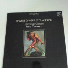 Discos de vinilo: BASSES DANSES ETC CHANSONS, CONSORT, CLEMENCIC. Lote 130922184