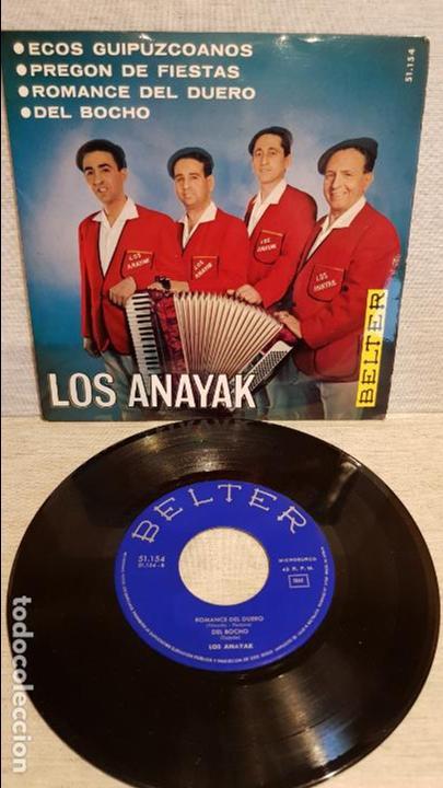 LOS ANAYAK / ECOS GUIPUZCOANOS / EP - BELTER - 1965 / MBC. ***/*** (Música - Discos de Vinilo - EPs - Country y Folk)