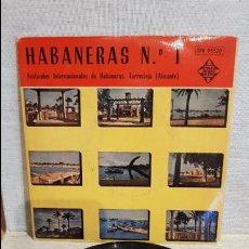 Discos de vinilo: HABANERAS Nº 1 / FESTIVALES DE TORREVIEJA - 1958 / EP - TELEFUNKEN / MBC. ***/***. Lote 130923368