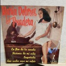 Discos de vinilo: MARÍA DOLORES PRADERA / LA FLOR DE LA CANELA / EP - ZAFIRO - 1961 / MBC. ***/***. Lote 130923900