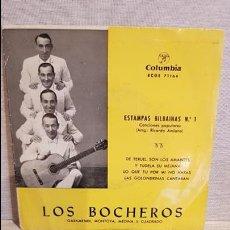 Discos de vinilo: LOS BOCHEROS / ESTAMPAS BILBAÍNAS Nº 1 / EP - COLUMBIA / CON USO NORMAL. ***/**. Lote 130924168