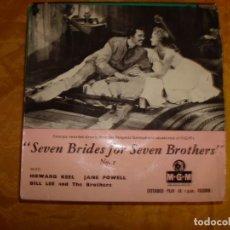 Discos de vinilo: SEVEN BRIDES FOR SEVEN BROTHERS. VOL. 1. EP. MGM. EDICION INGLESA. IMPECABLE. Lote 130924644