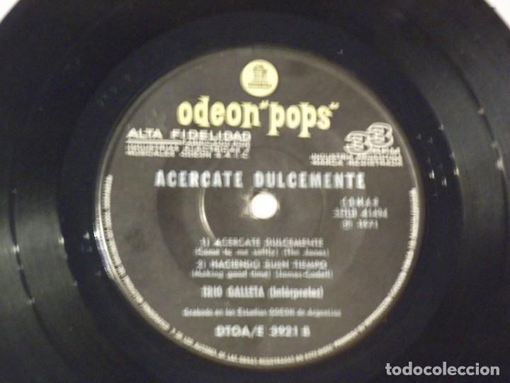 Discos de vinilo: TRIO GALLETA - ACERCATE DULCEMENTE+3- EP ORIGINAL-EMI-ODEON POPS-1971-PSYCHY LATIN ROCK & SOUL - Foto 3 - 130929872