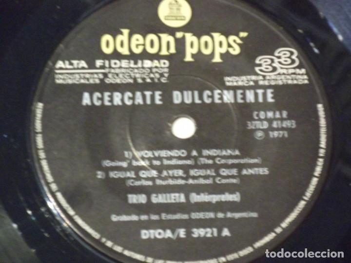 Discos de vinilo: TRIO GALLETA - ACERCATE DULCEMENTE+3- EP ORIGINAL-EMI-ODEON POPS-1971-PSYCHY LATIN ROCK & SOUL - Foto 4 - 130929872