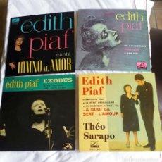 Discos de vinilo: EDITH PIAF: LOTE 4 EXCELENTES EP'S OFERTA COLECCIONISTAS. Lote 130931020