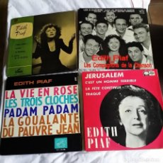 Discos de vinilo: EDITH PIAF: LOTE EXCELENTES 4 EPS PARA COLECCIONISTAS. Lote 130931160