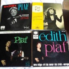 Discos de vinilo: EDITH PIAF: LOTE DE 4 EXCELENTES EPS PARA COLECCIONISTAS. Lote 130931252
