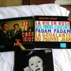 Discos de vinilo: EDITH PIAF: LOTE DE 3 EXCELENTES EPS PARA COLECCIONISTAS- ORLADOR. Lote 130931316