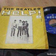 Discos de vinilo: SINGLE THE BEATLES HELP + I'M DOWN MUY RARO. Lote 130931336
