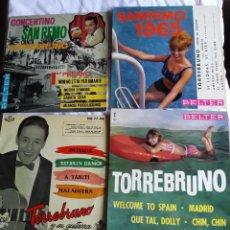 Discos de vinilo: TORREBRUNO: LOTE 4 EXCELENTES EXT.PLAY COLECCIONISTAS. Lote 130931692