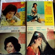 Discos de vinilo: CONNIE FRANCIS: 4 EXCELENTES EXT.PLAYS-COLECCIONISTAS. Lote 130936504