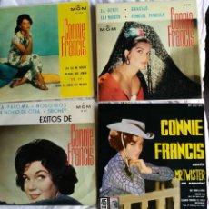 Discos de vinilo: CONNIE FRANCIS: 4 EXCELENTES EXT.PLAYS-COLECCIONISTAS. Lote 130936548