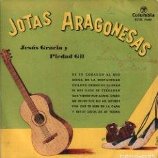 Discos de vinilo: JOTAS ARAGONESAS POR PIEDAD GIL Y JESUS GRACIA / EP COLUMBIA RF-3512. Lote 130952520