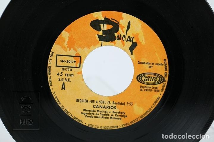 Discos de vinilo: Disco Ep De Vinilo - Canarios / Niño, Requiem For A Soul - Barclay - Año 1968 - Foto 2 - 130977948