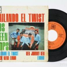 Discos de vinilo: DISCO EP DE VINILO - LOS TEEN TOPS / BAILANDO EL TWIST - CBS - AÑO 1963. Lote 130977960