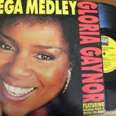 Discos de vinilo: GLORIA GAYNOR -MEGA MEDLEY -MAXI 1990 . Lote 130982452